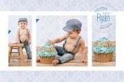 CUPCAKE Ryan uitnodiging 10x15 voorkant