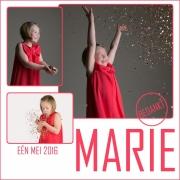 Marie bedanking
