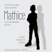Mathice uitnodiging